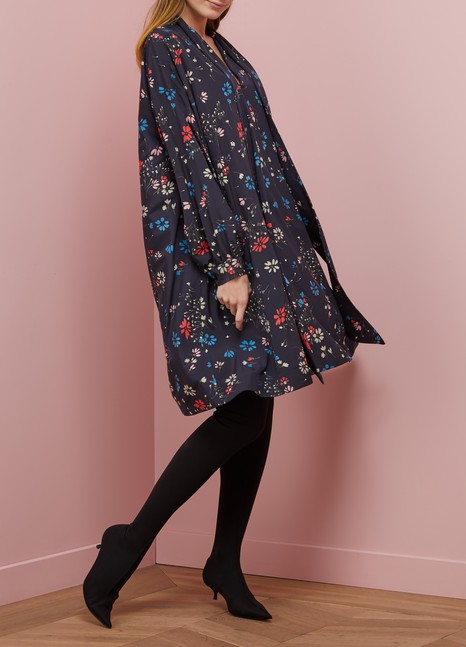 Balenciaga Fleur de Nuit long-sleeved dress
