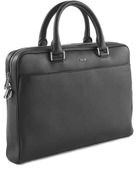 DIORLarge leather briefcase