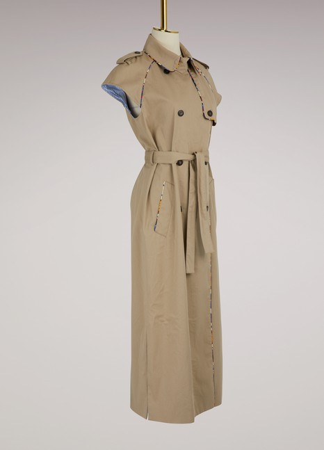 Stella Jean Short sleeve trench coat