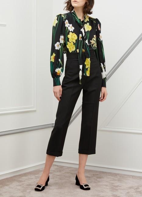 Dolce & GabbanaIris print silk shirt