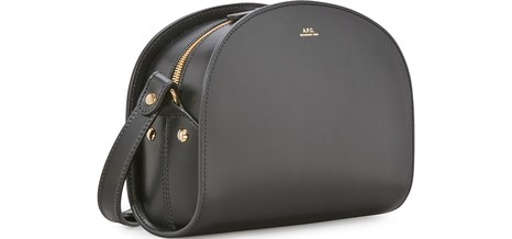 APCHalf-moon thick leather bag.