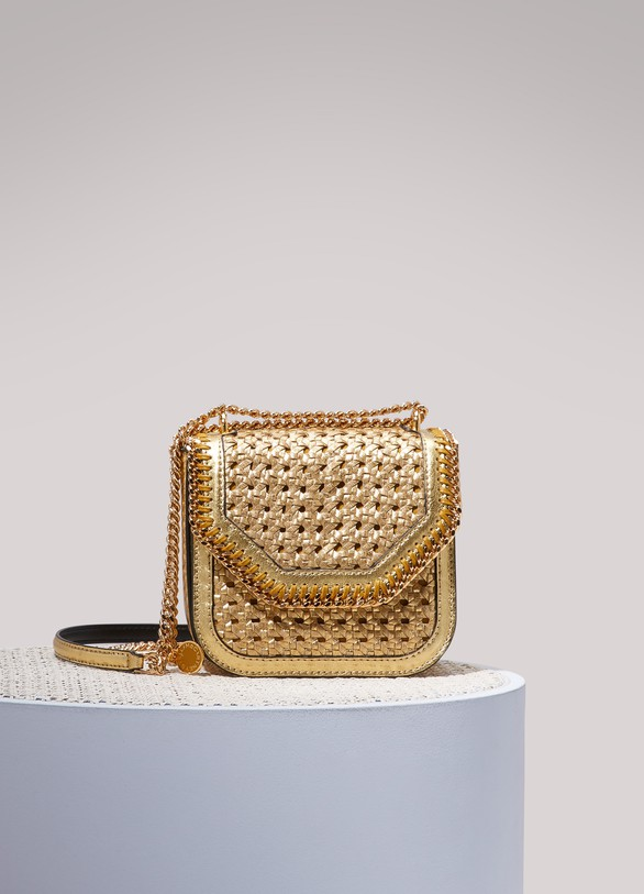 Stella McCartney Metallic Falabella Box shoulder bag