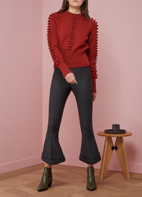 ChloéCrewneck Sweater With Pompoms
