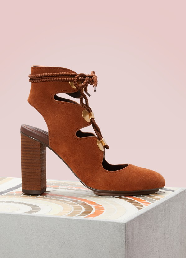 Women S High Heeled Laced Sandals See