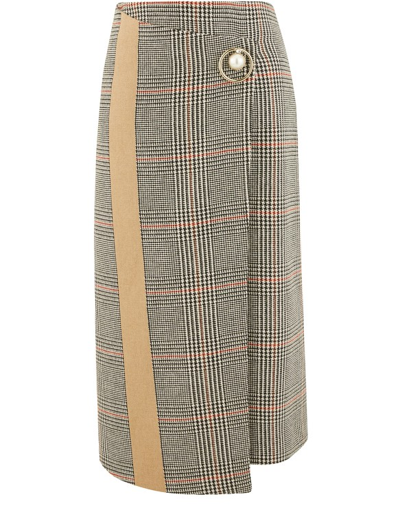 COLIAC Prince of Wales wrap skirt
