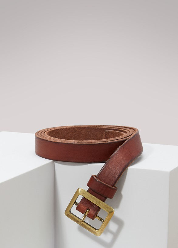 Forte_Forte Skinny leather belt