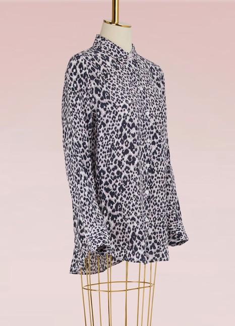 EQUIPMENTChemise Essential léopard en soie