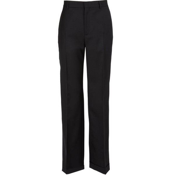 CELINELightweight wool gabardine trousers with turn-ups