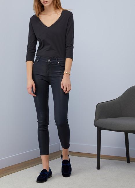 Majestic FilaturesT-shirt en coton à col V