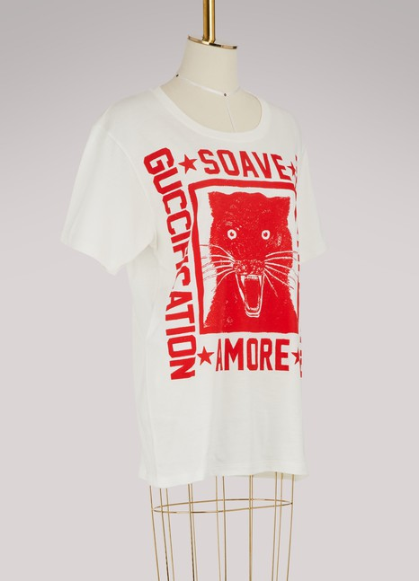 """Gucci""""Soave Amore Guccification"""" print T-shirt"""