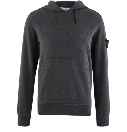 Stone Island Cotton Hoodie In Black