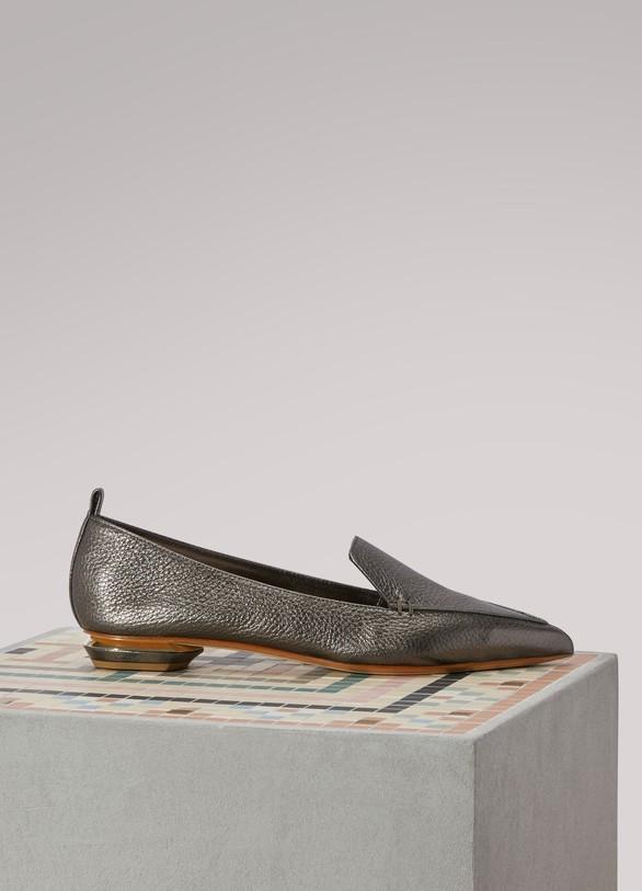 Nicholas KirkwoodMocassins en cuir métallisé Beya