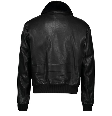 DIORReversible jacket with fur collar