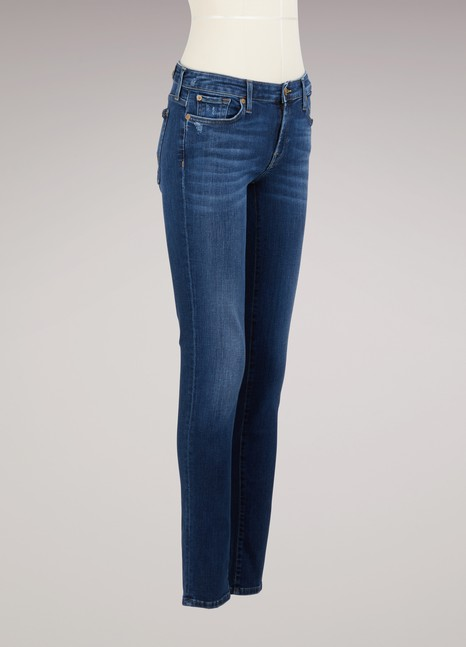 7 For All Mankind Cotton Piper Jeans