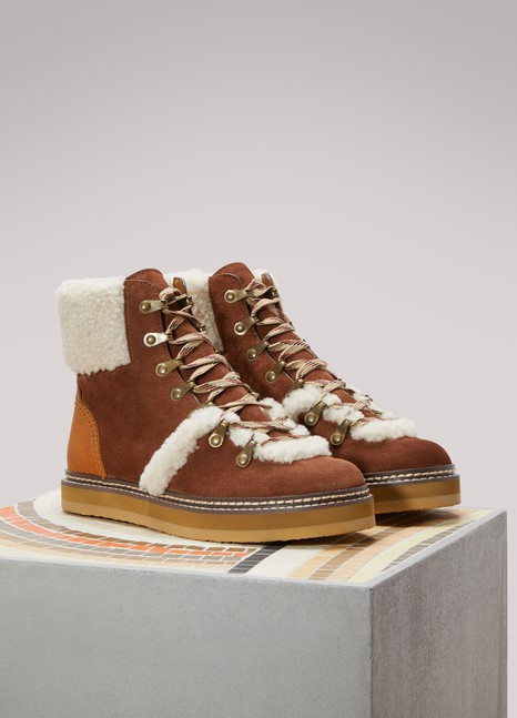See by ChloéCalfskin Hiking Boots