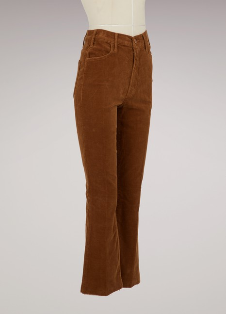 Mother Cotton high-waisted jeans
