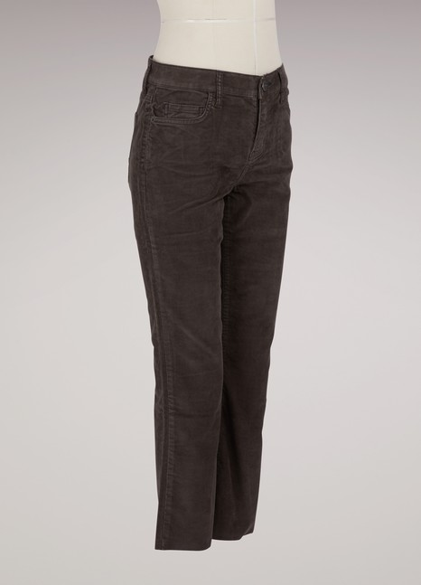 Current Elliott Corduroy jeans with raw-cut hem