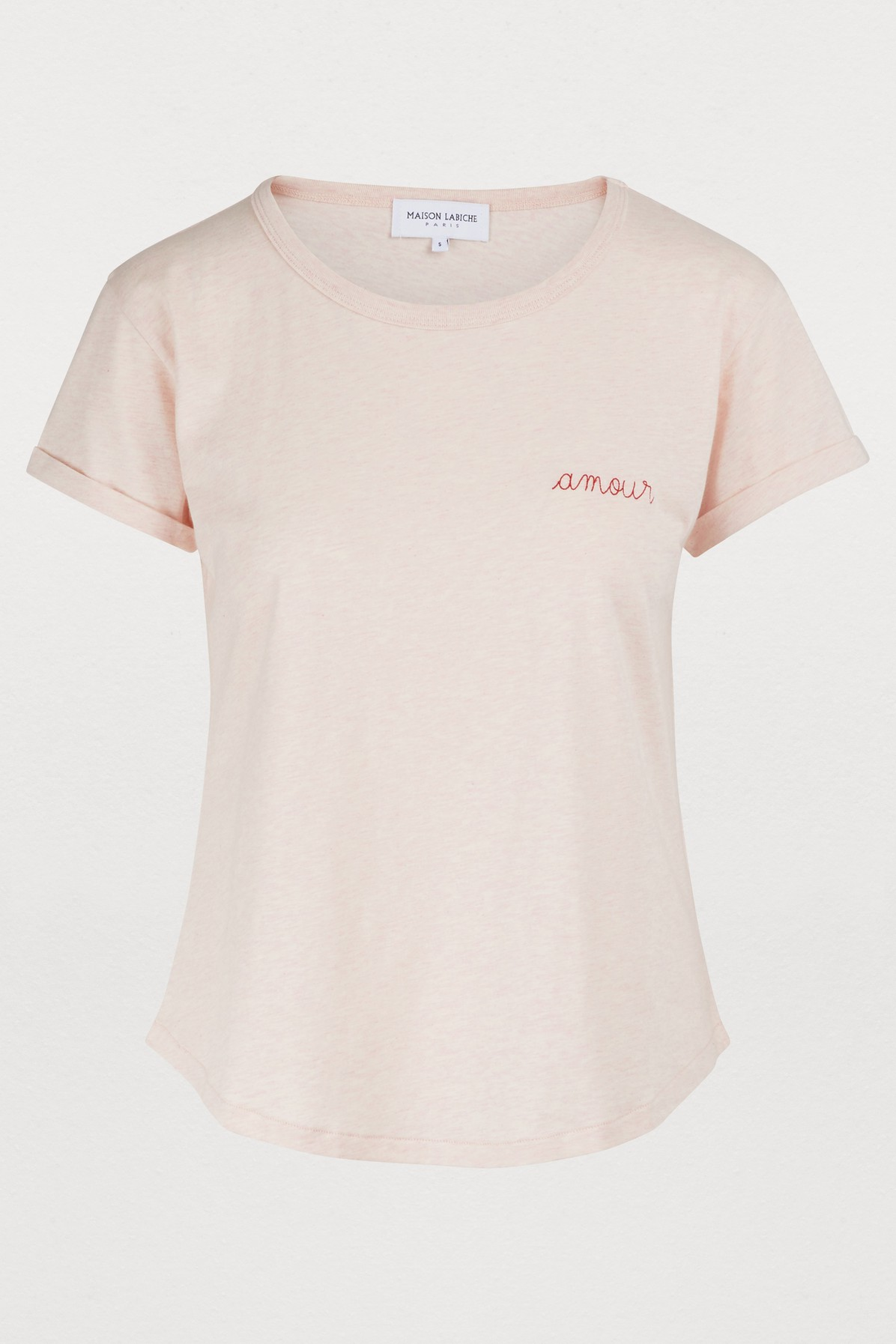 Maison Labiche Amour T Shirt In Heather Pink Modesens
