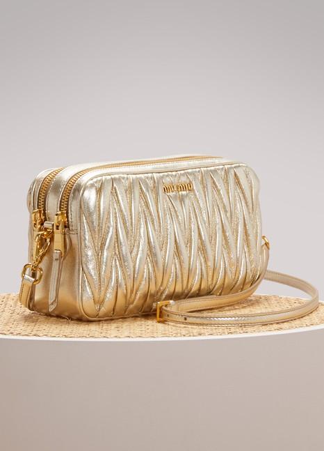 MIU MIUPetit sac porté croisé en cuir matelassé