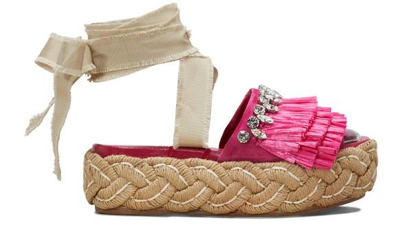 MIU MIURaffia sandals