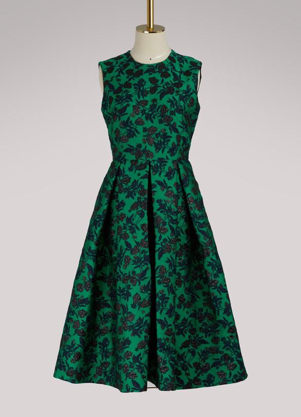 ErdemIndra peony print sleeveless dress