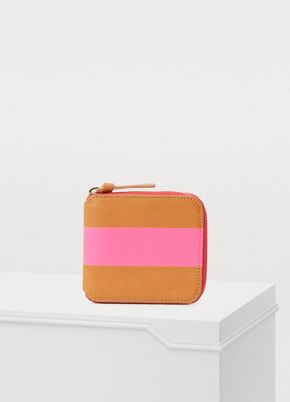 Clare V Leather striped small wallet