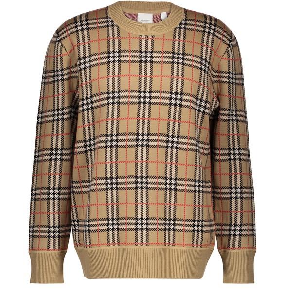 round-neck-merino-wool-sweatshirt by burberry