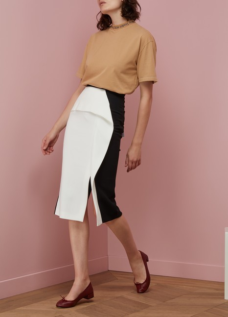 Roland Mouret Sidley Bi-Colored skirt