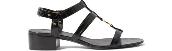 CELINECeline Triomphe sandal in crocodile embossed calfskin