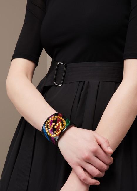 GucciCrystal GG cuff bracelet