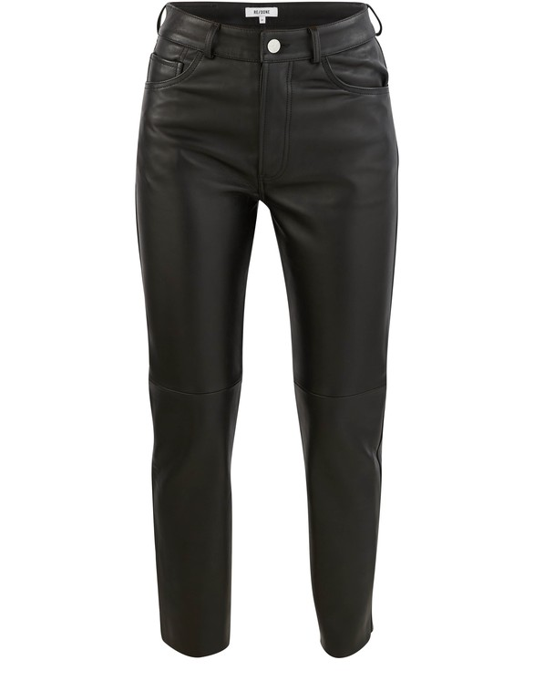 REDONE Leather 50s cigarette trousers