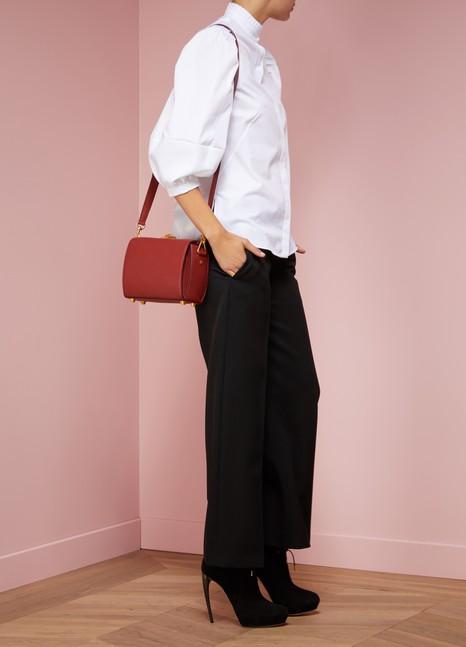 Alexander McQueenBox bag épaule en cuir grainé