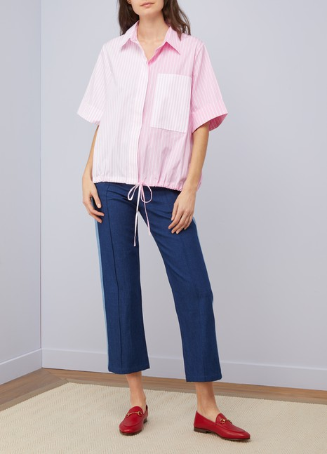 Victoria Victoria BeckhamStriped short-sleeved shirt