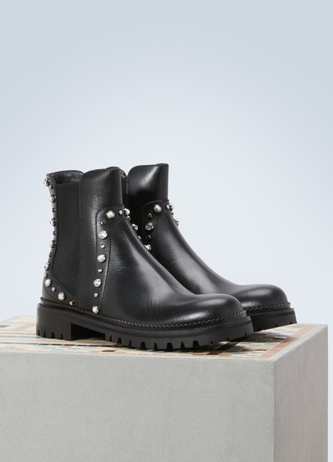 Jimmy Choo Bottines biker Burrow