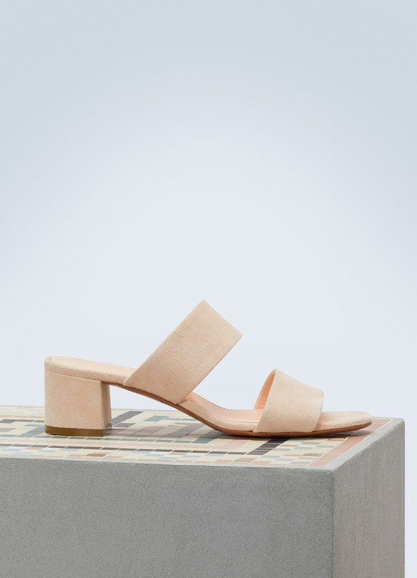 Mansur Gavriel Suede leather sandals