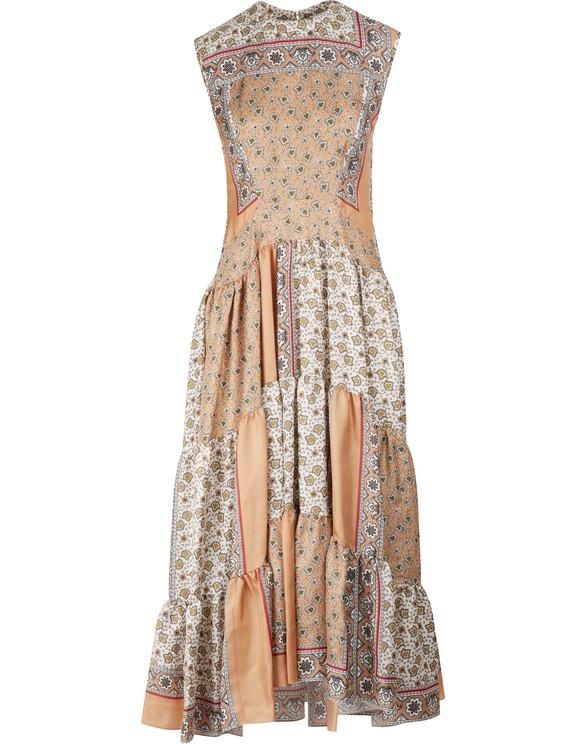 CHLOELong silk dress