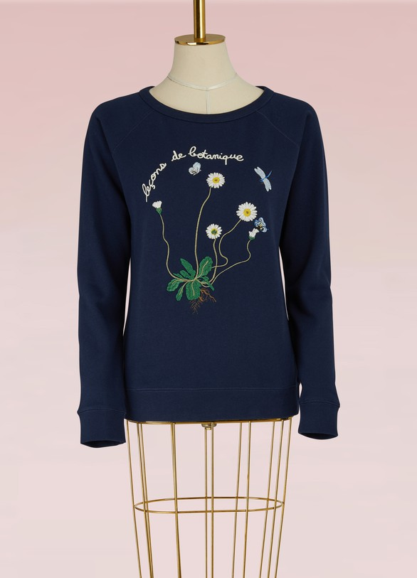 Maison LabicheBotanical Embroidered Sweatshirt