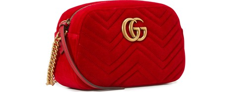 GUCCI GG Marmont velvet camera bag