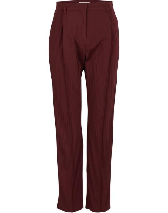 VALENTINOMicro-faille pleated pants