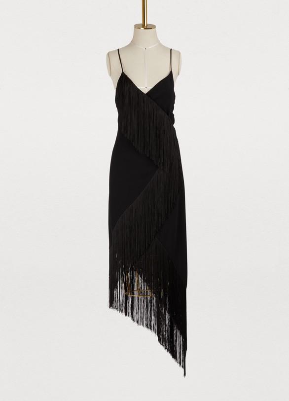 GivenchyAsymmetric plunge dress