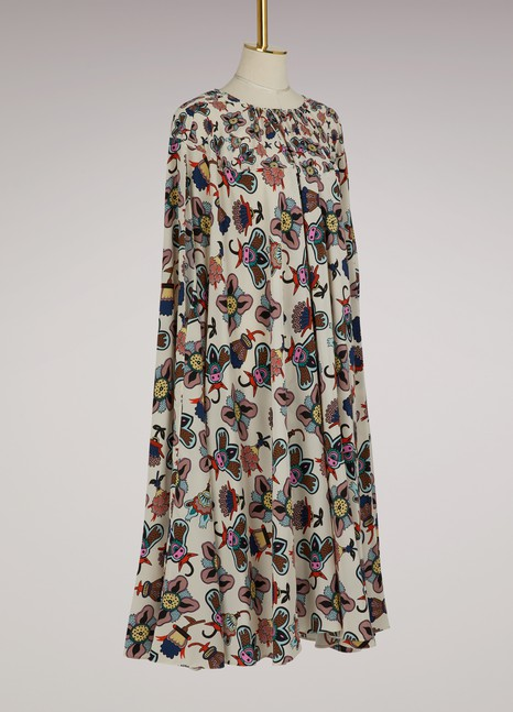 Valentino Robe midi en soie Pop Flower