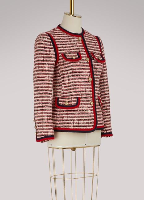 GucciVeste en tweed rayée