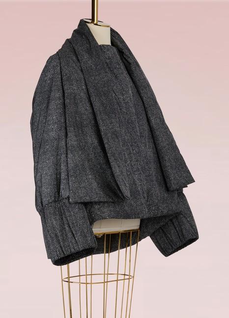 JIL SANDERDoudoune avec écharpe amovible