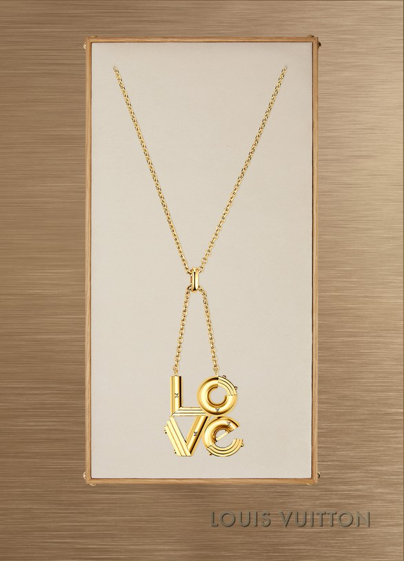 Louis Vuitton LV&Me ''Love'' pendant necklace