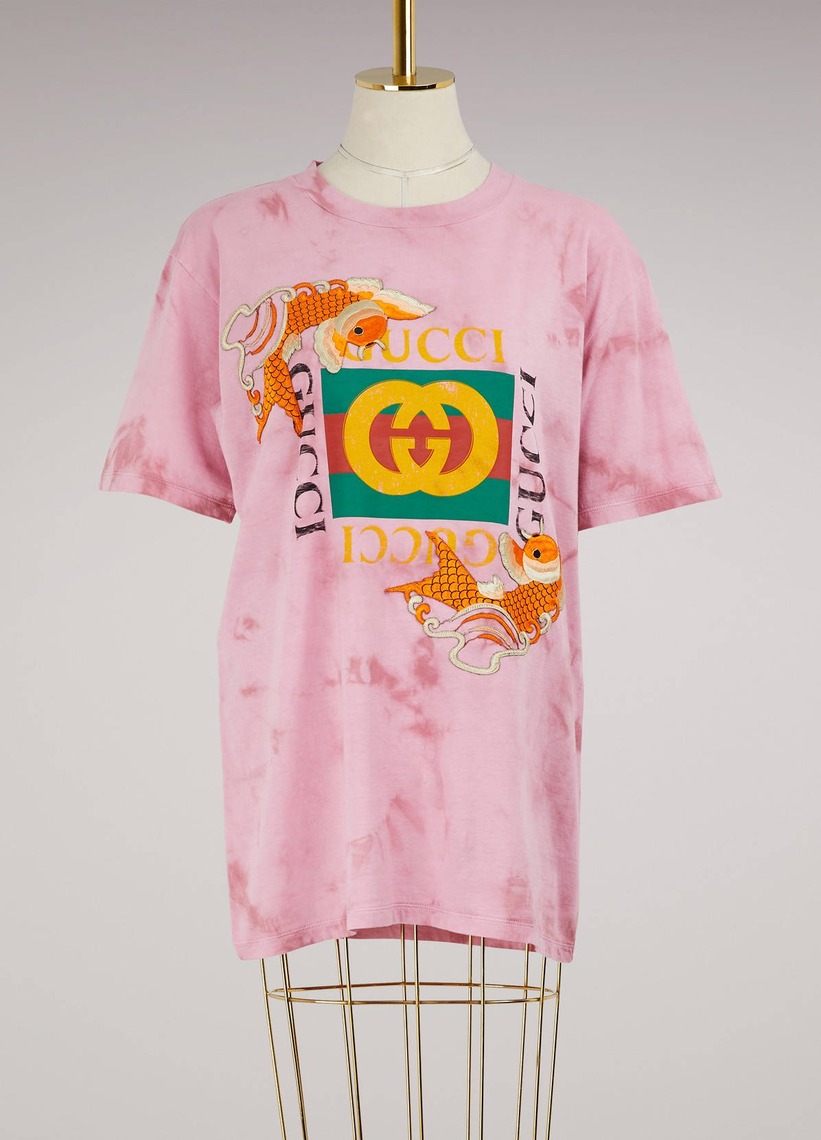 Fish Embroidered Cotton T-Shirt | GUCCI | 24 Sèvres