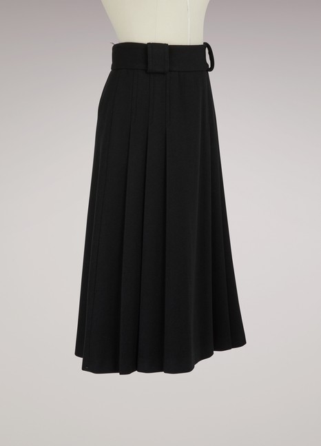 Red Valentino Pleated Woolen Skirt