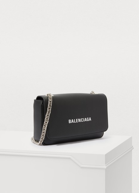 BALENCIAGA Everyday wallet with chain
