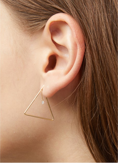 PERSEE Géométrique Triangle single earring