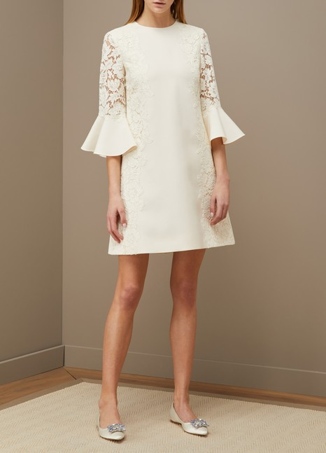 Valentino 3/4-sleeve short dress