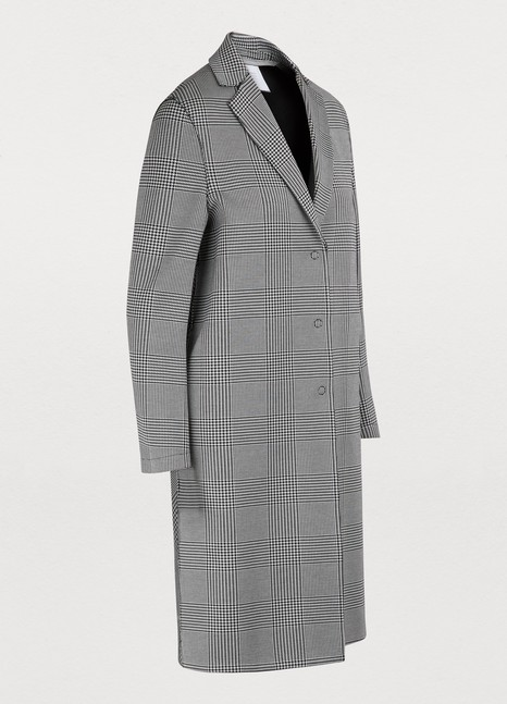 Harris Wharf London Glen plaid cotton coat